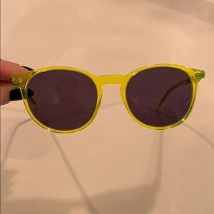Saint Laurent fluorescent sunglasses new w case!